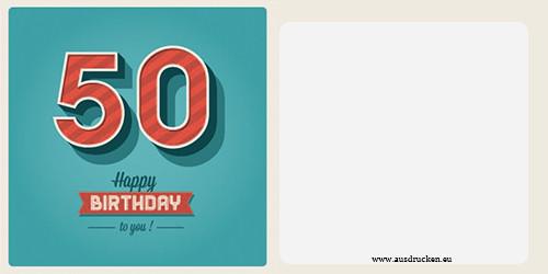 Geburtstagskarten Zum 50  Geburtstagskarten mit Zahlen