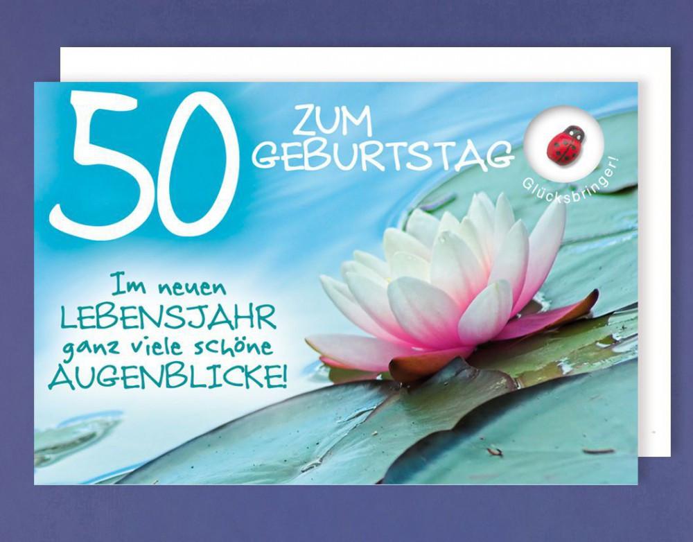 Geburtstagskarten Zum 50  Grußkarte 50 Geburtstag Karte Happy Birthday Applikation