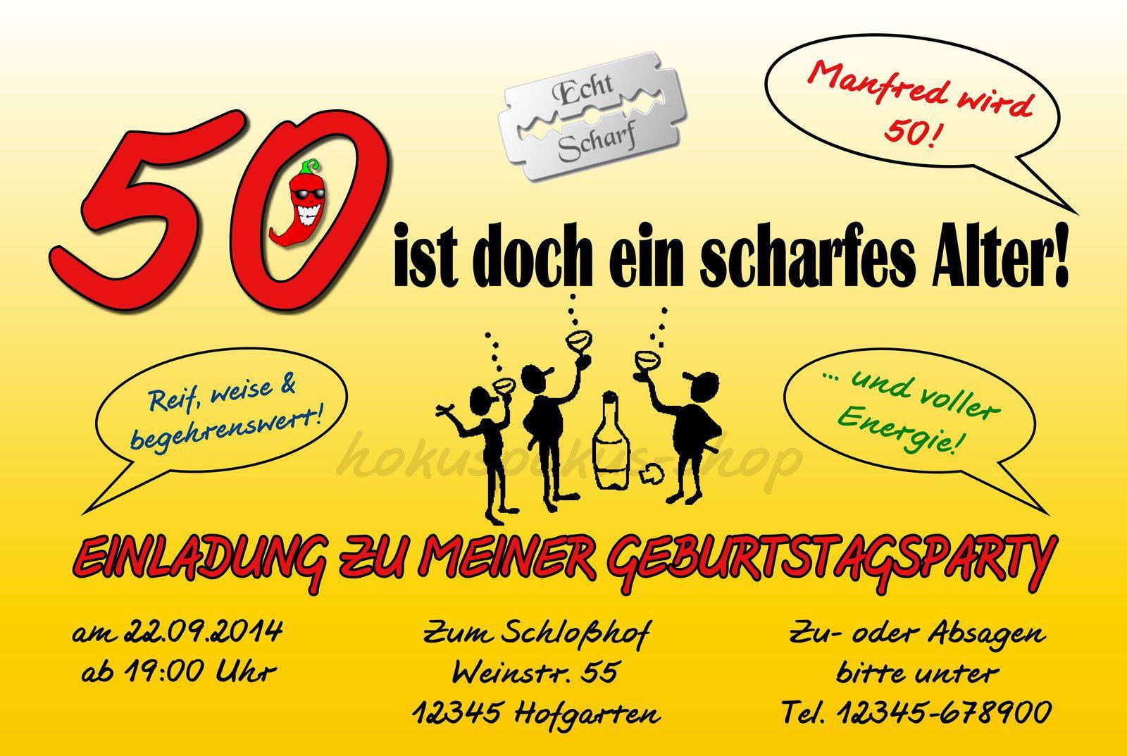 Geburtstagskarten Zum 50  Einladung 50 Geburtstag Vorlagen Kostenlos