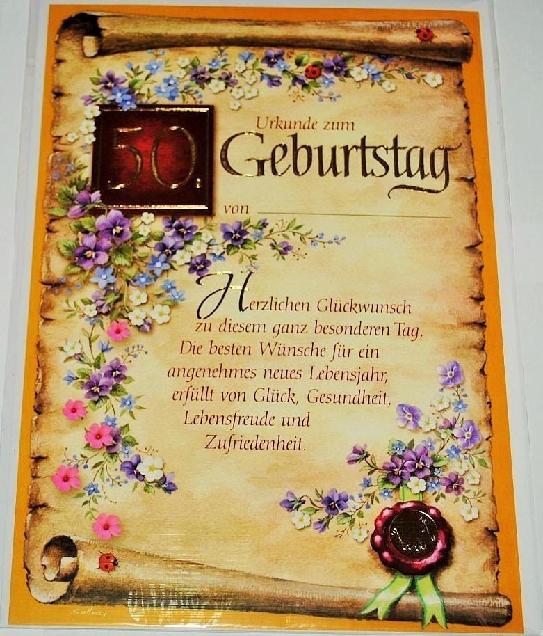 Geburtstagskarten Zum 50  Geburtstagskarte XXL zum 50 Geburtstag Umschlag Partyland