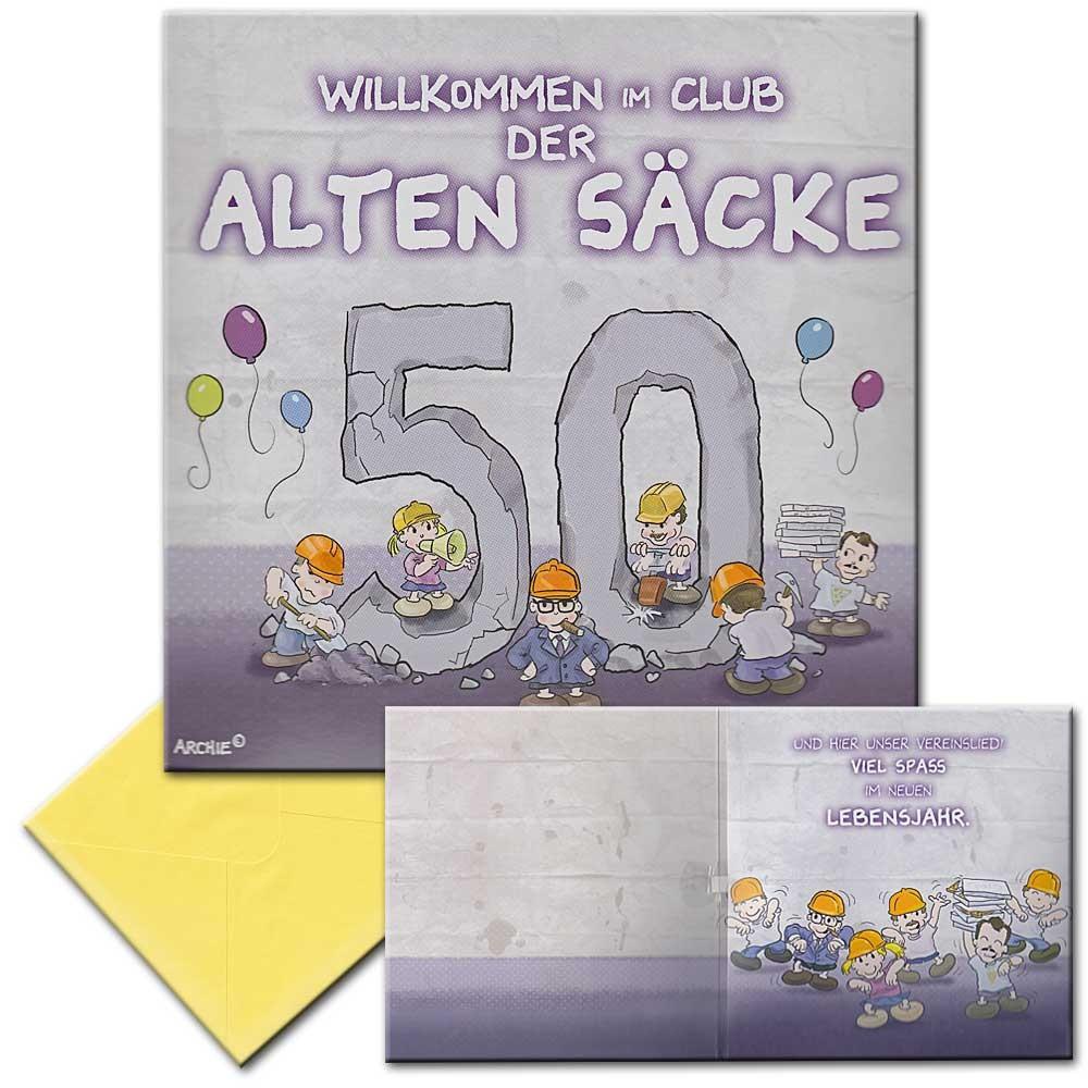 Geburtstagskarten Zum 50  Archies Musikkarte Geburtstagskarte 50 Geburtstag