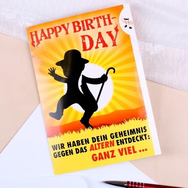 Geburtstagskarten Zum Ausdrucken Für Männer  Lustige Geburtstagskarte für Männer gegen das Altern