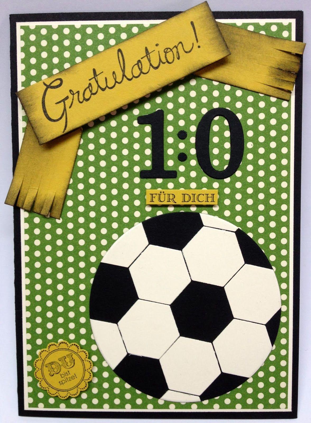 Geburtstagskarten Zum Ausdrucken Für Männer  Willkommen im Bastel Wunderland Fußball