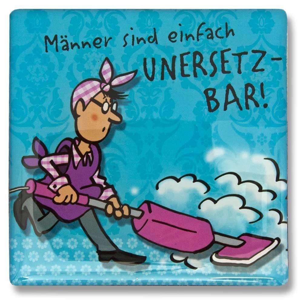 Geburtstagskarten Zum Ausdrucken Für Männer  Magnet Männer sind einfach unersetzbar 7 x 7 cm