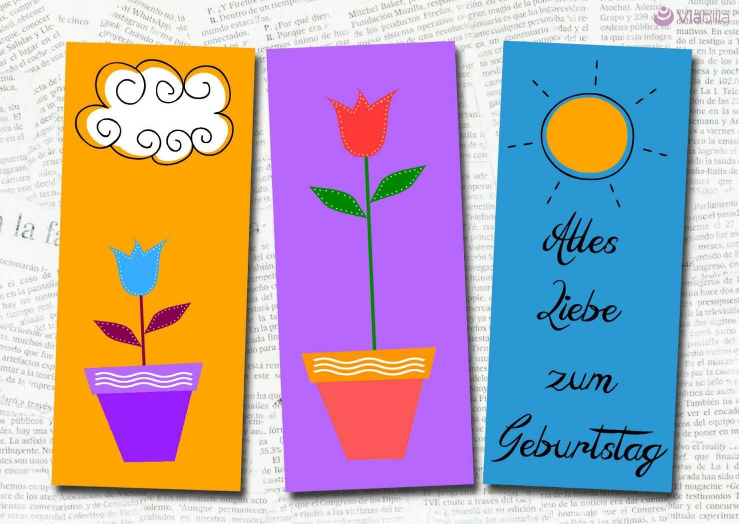 Geburtstagskarten Zum Drucken  Geburtstagskarten kostenlos als PDF ausdrucken