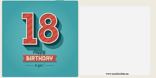 Geburtstagskarten Zum Drucken  Geburtstagskarten mit Zahlen