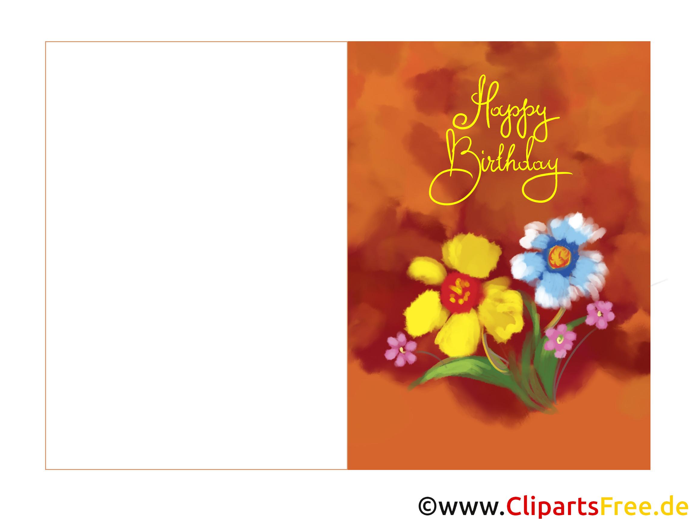 Geburtstagskarten Zum Drucken  Elektronische Geburtstagskarte kostenlos zum Runterladen