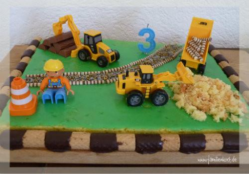 Geburtstagskuchen 3 Jahre  Baustellen Kuchen zum Kindergeburtstag für Bob und Freunde