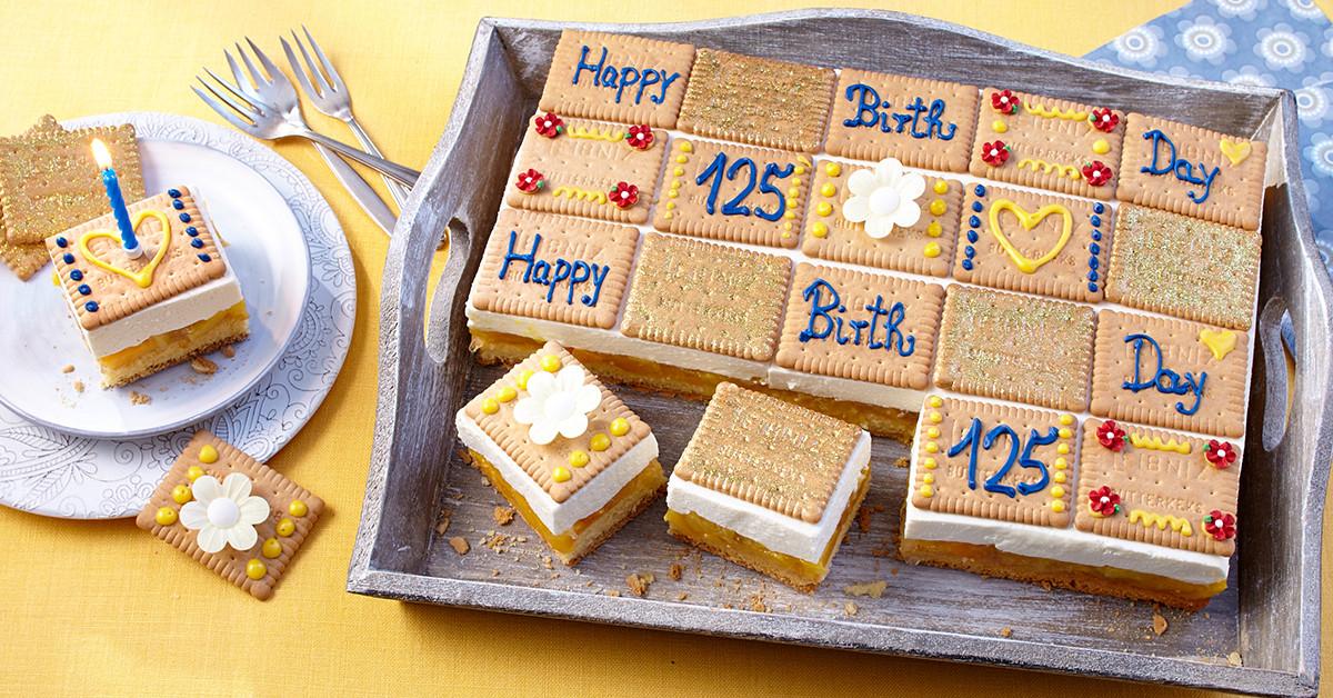 Geburtstagskuchen 5  Rezept LEIBNIZ 125 Jahre Geburtstagskuchen