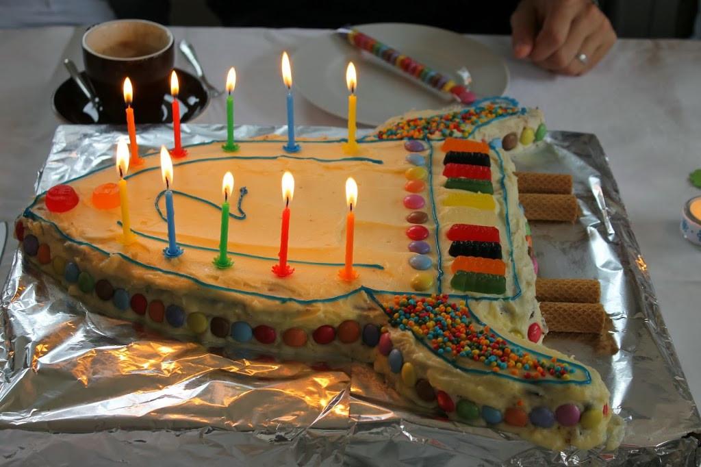 Geburtstagskuchen 5  Eine Raketentorte als Geburtstagskuchen Lavendelblog