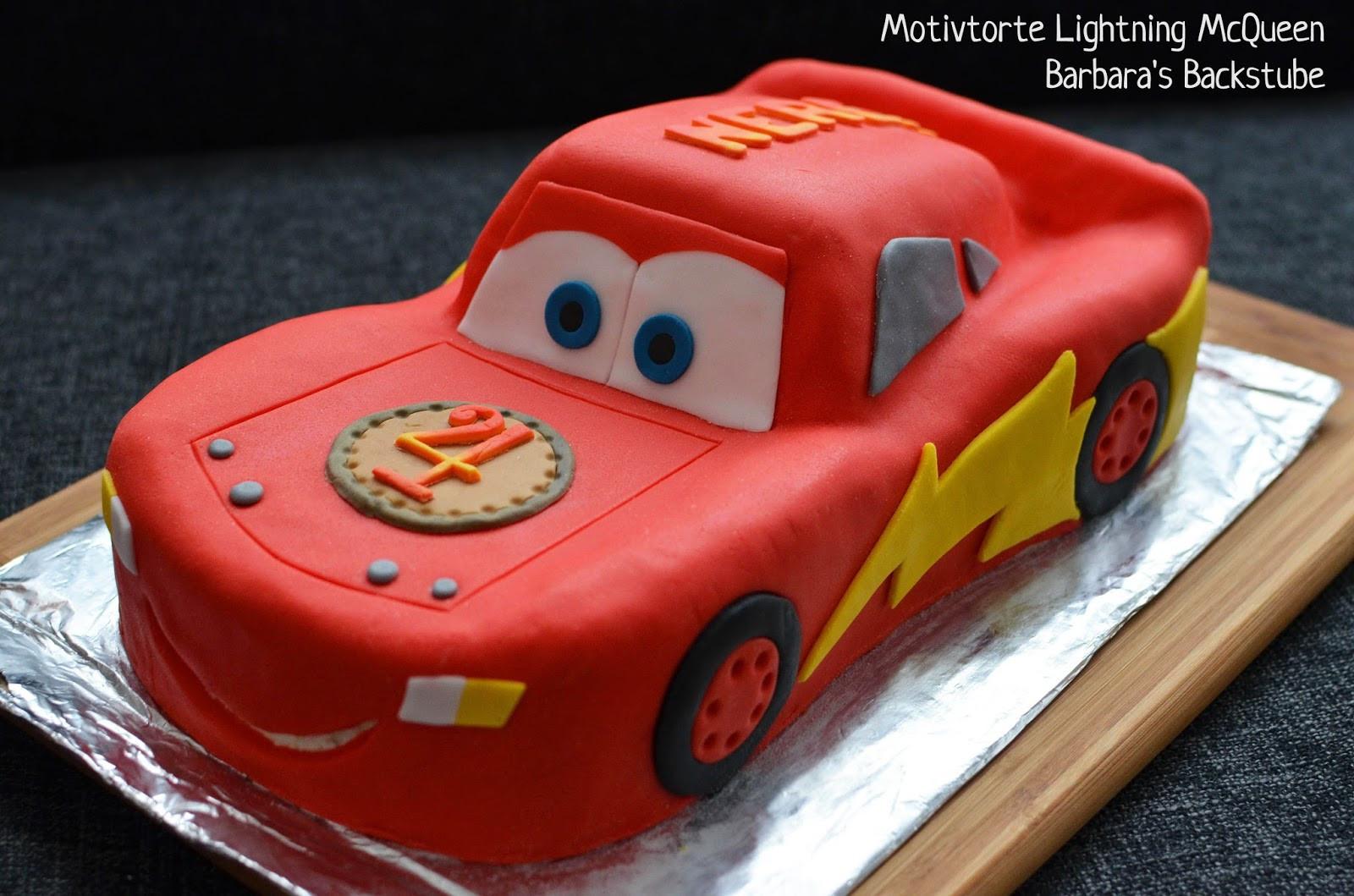 Geburtstagskuchen Auto  Barbara s Backstube Lightning McQueen Torte
