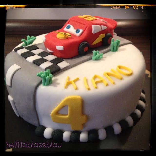 Geburtstagskuchen Auto  Cars Lightning McQueen Motivtorten