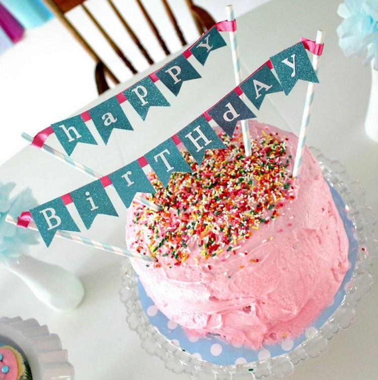 Geburtstagskuchen Deko  DIY Projekte und Ideen für eine Kuchengirlande als