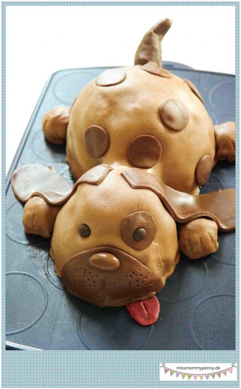 Geburtstagskuchen Hund  Kinderkuchen Torte Hund kindergeburtstag