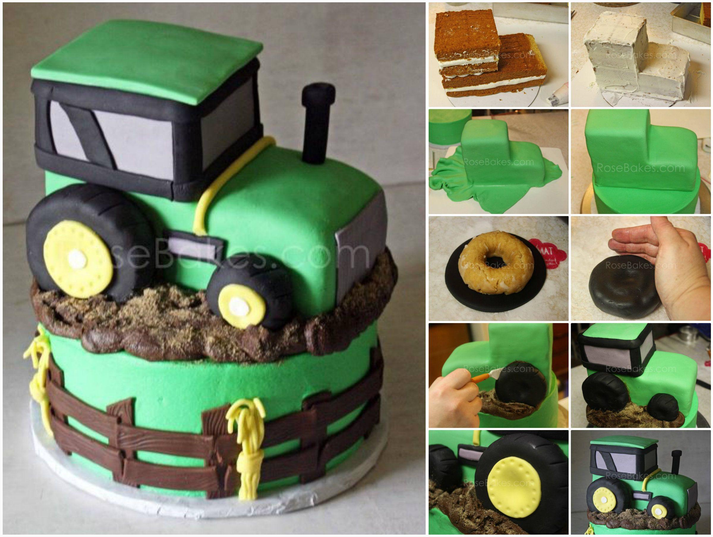 Geburtstagskuchen Traktor  John Deere Tractor Cake Tutorial Easy Video Instructions