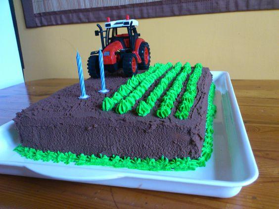 Geburtstagskuchen Traktor  traktor cake Kindergeburtstag Pinterest