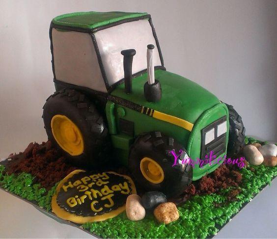Geburtstagskuchen Traktor  traktor Kinder essen Pinterest