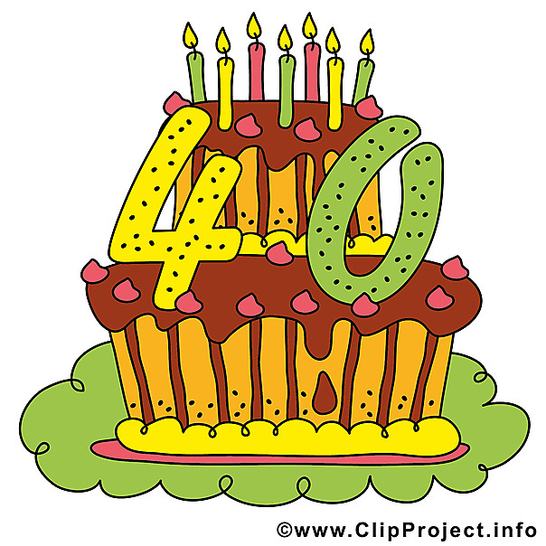 Geburtstagsparty Clipart  40 Jahre Geburtstagsparty Clipart Bild