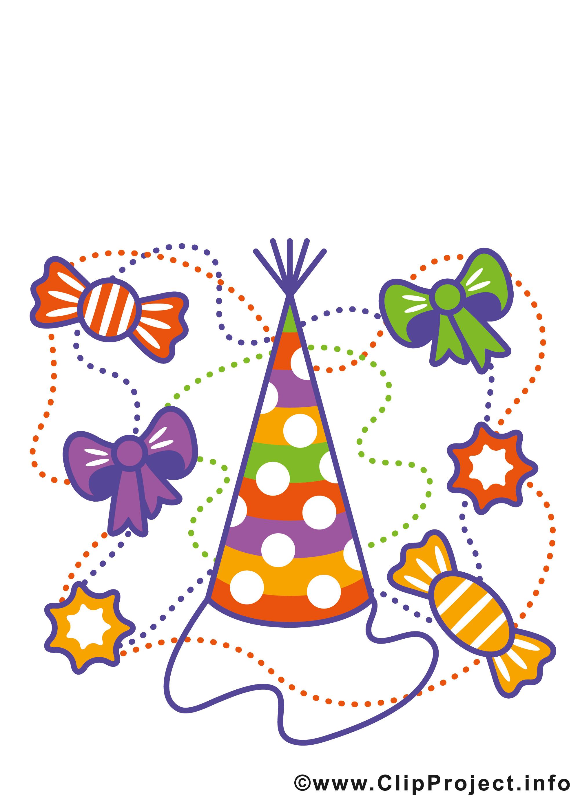 Geburtstagsparty Clipart  Einladungskarten runder Geburtstag kostenlos
