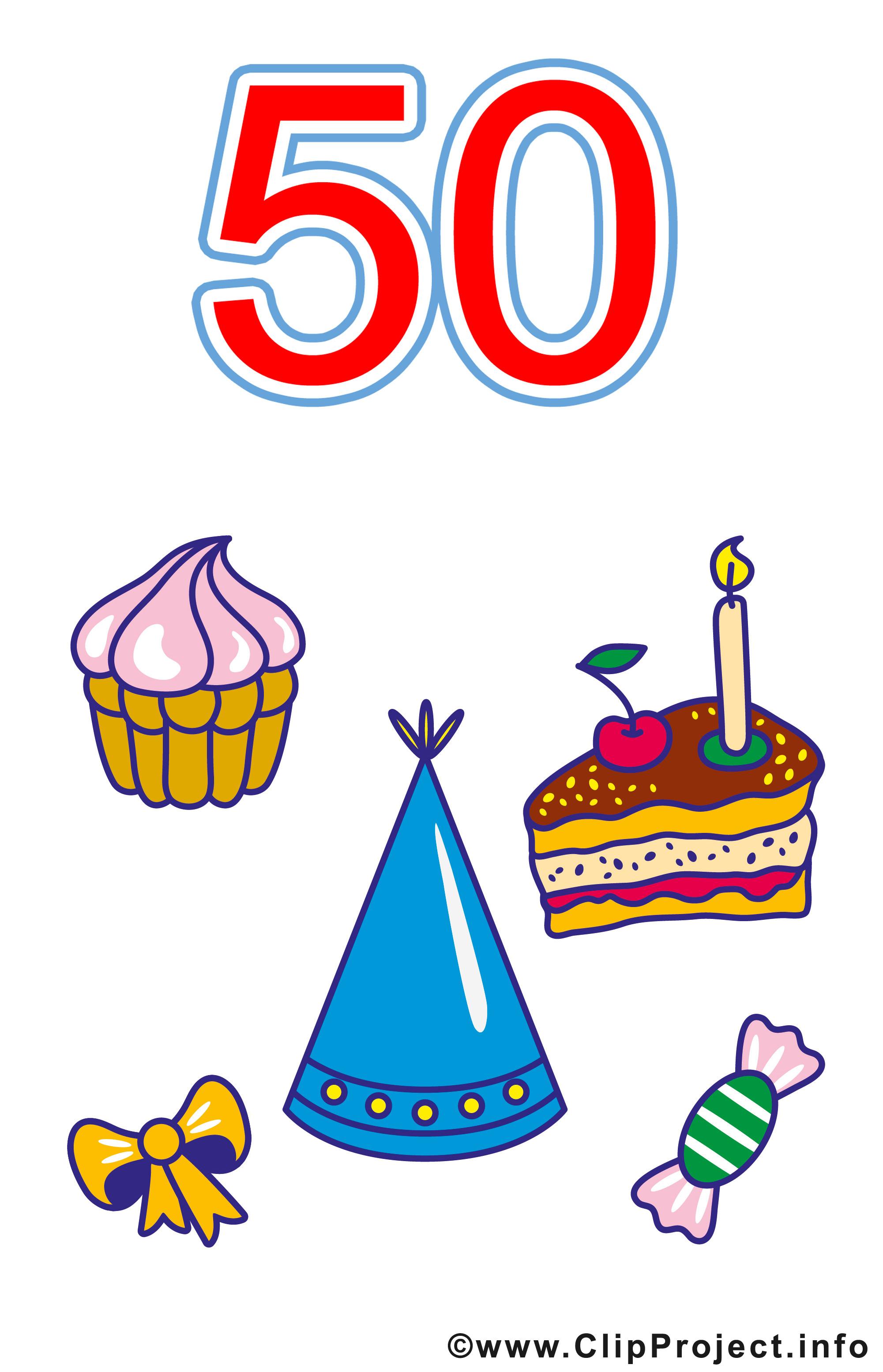 Geburtstagsparty Clipart  50 Geburtstag Clipart kostenlos