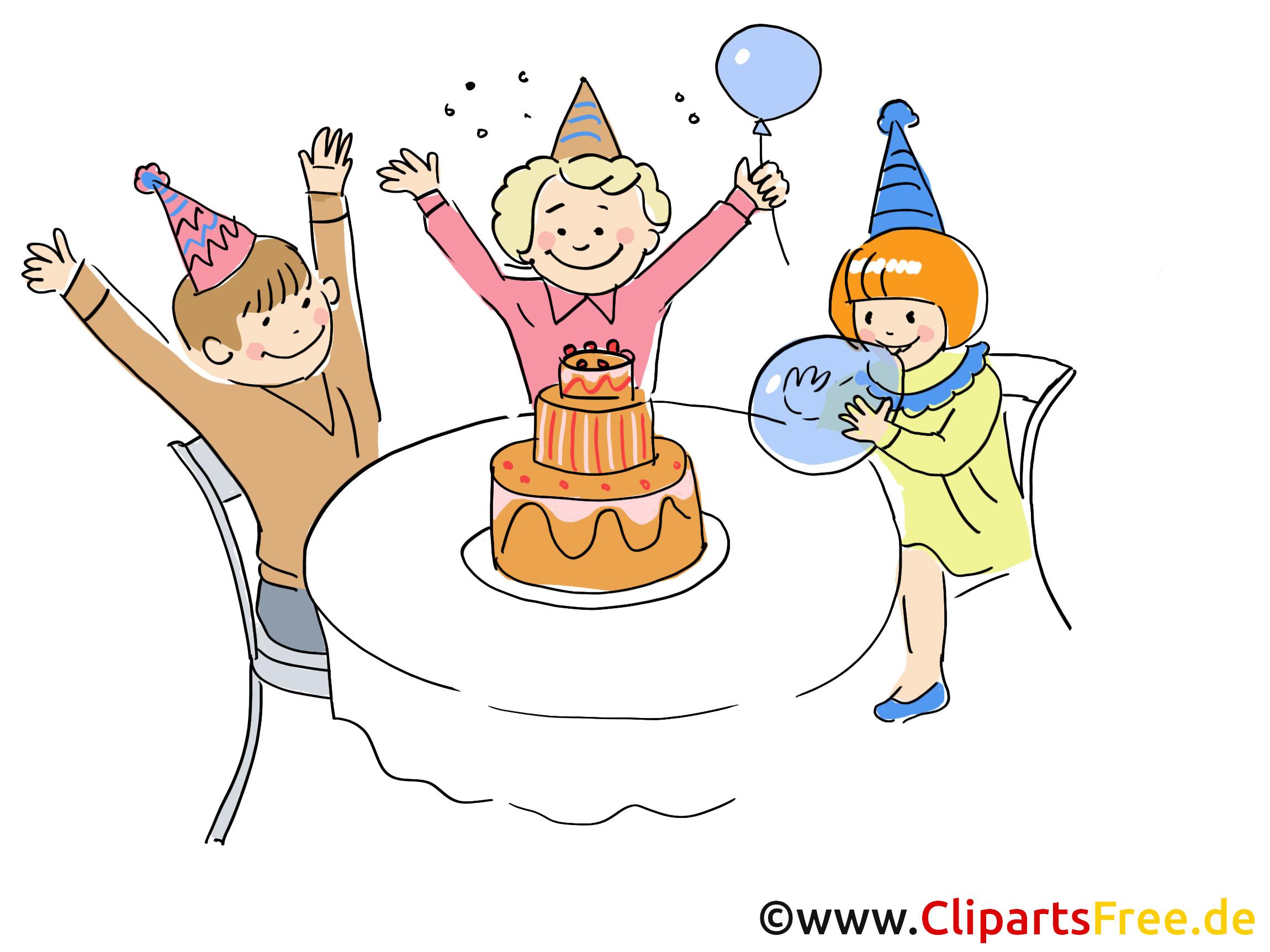Geburtstagsparty Clipart  Geburtstagsparty Bild Clipart Cartoon Grafik