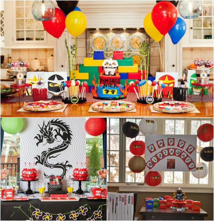 Geburtstagsparty Spiele  Ninjago basteln zum Kindergeburtstag Spannende Ideen zur