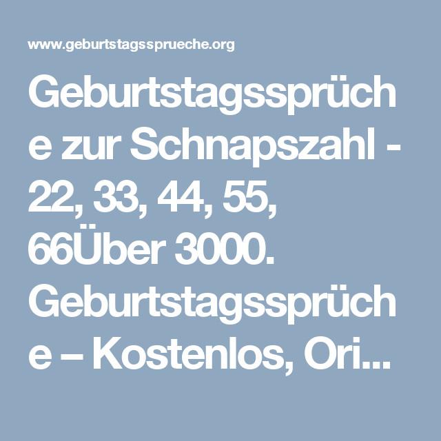 Geburtstagssprüche 20 Frech  Geburtstagssprüche zur Schnapszahl 22 33 44 55