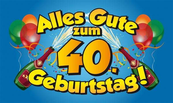 Geburtstagssprüche 40 Geburtstag  Glückwünsche zum 40 Geburtstag • Geburtstagssprüche 40