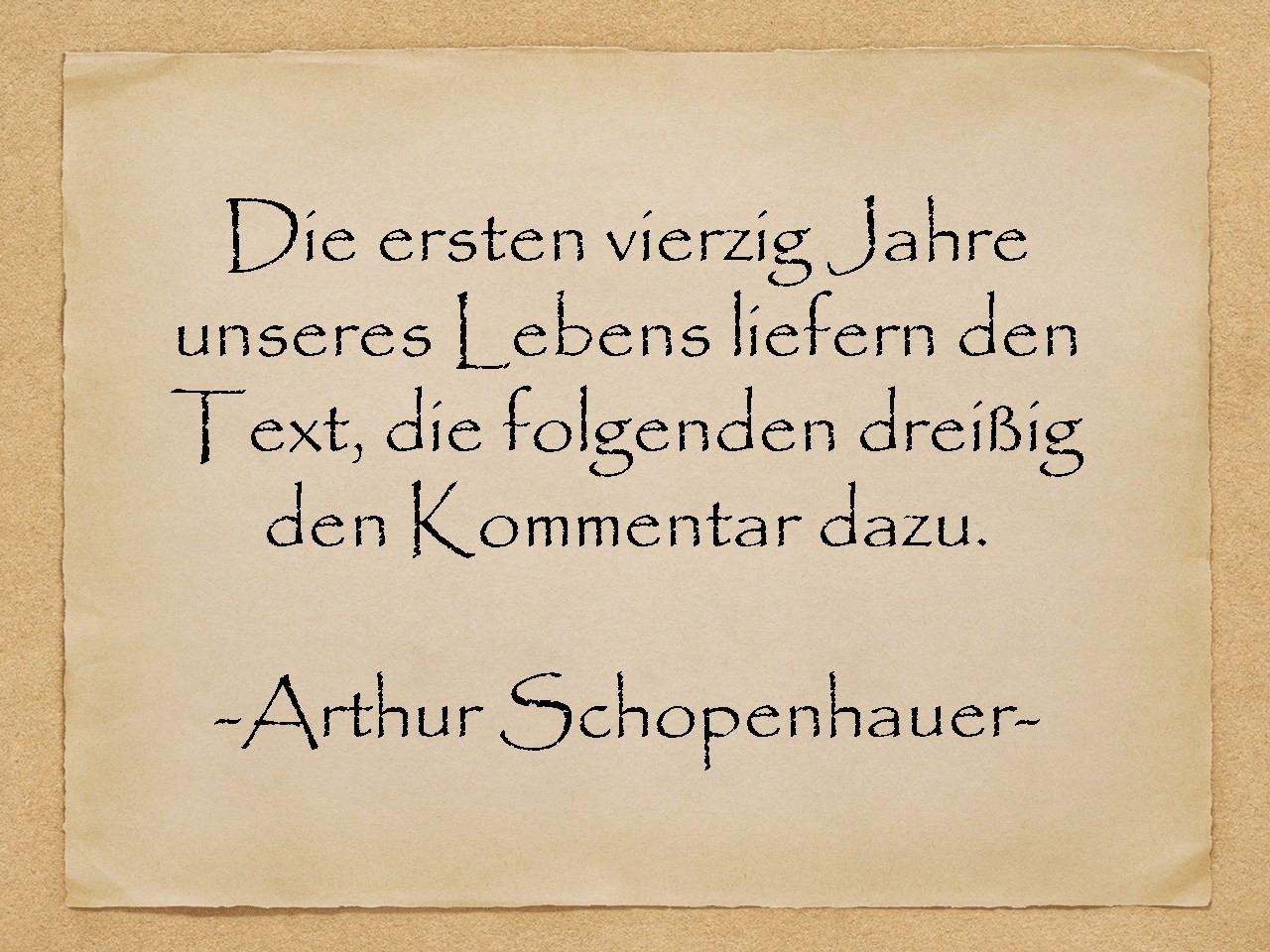 Geburtstagssprüche 40 Jahre  Geburtstagssprüche Vierzig Jahre Arthur Schopenhauer