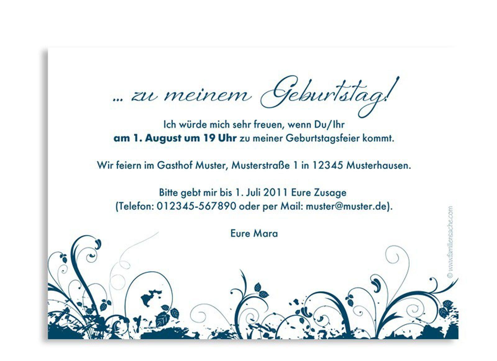Geburtstagssprüche Einladung  Einladungskarten Geburtstag Einladungskarten Geburtstag