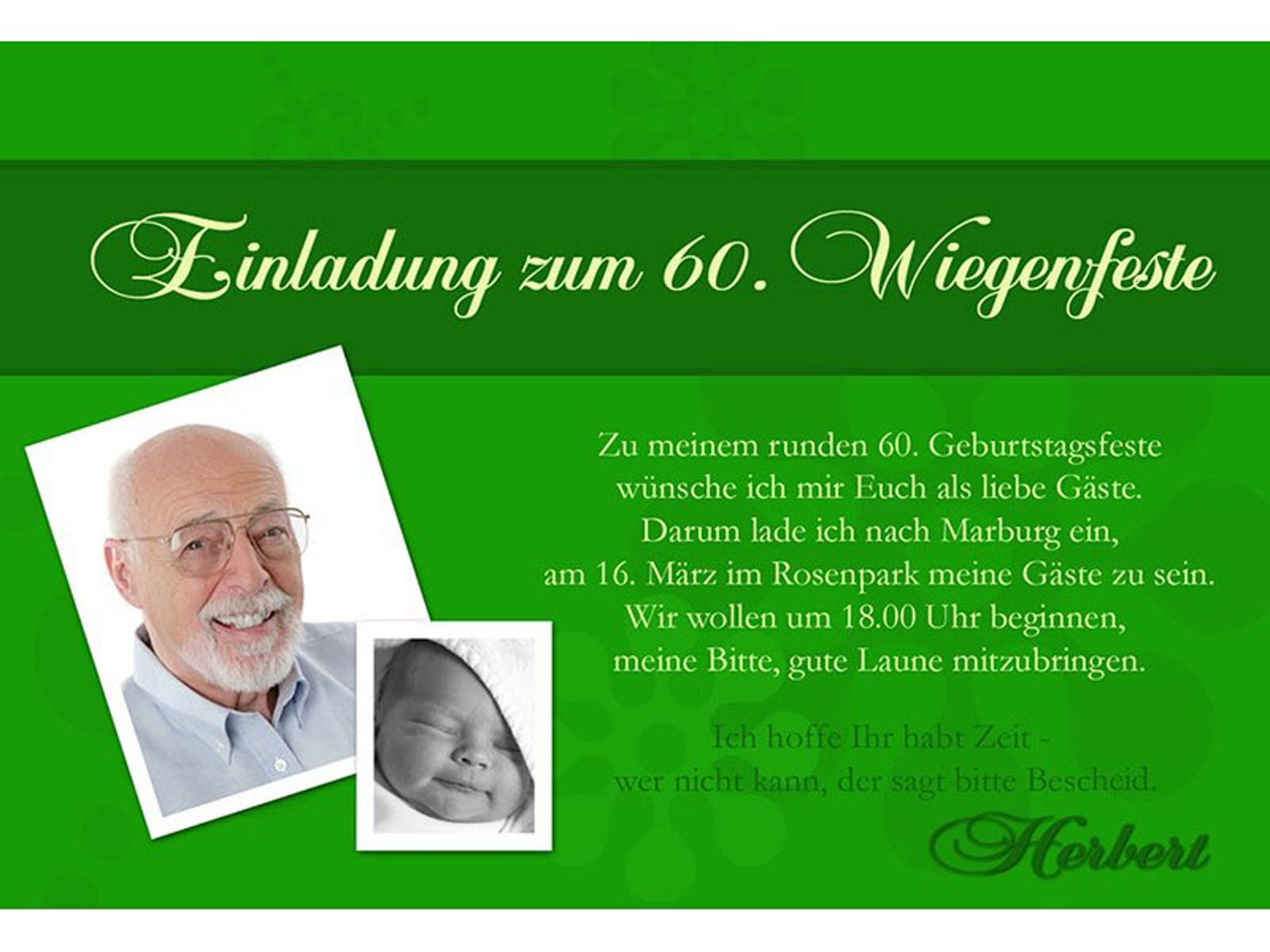 Geburtstagssprüche Einladung  Einladungen Zum 60 Geburtstag