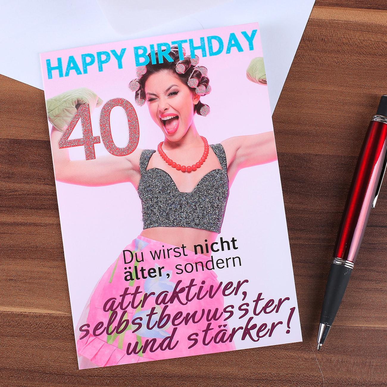 Geburtstagssprüche Für Frauen 40  Komma³