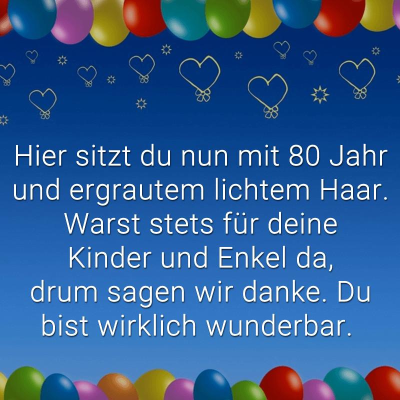 Geburtstagssprüche Für Frauen 80  80 Jahre – wunderbar feiert man nicht jedes Jahr