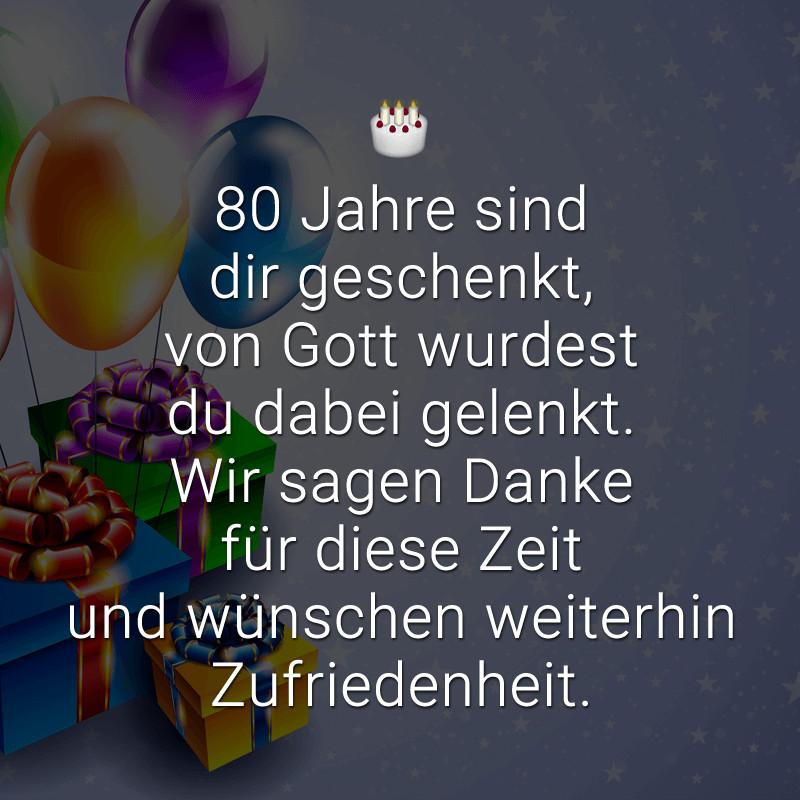 Geburtstagssprüche Für Frauen 80  Glückwünsche zum 80 Geburtstag Beliebt lustig & kreativ
