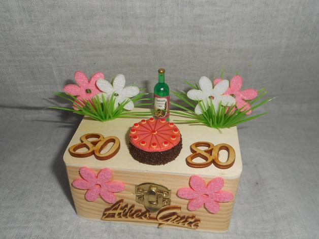Geburtstagssprüche Für Frauen 80  Geschenke für Frauen Geschenkbox Geldgeschenk 80