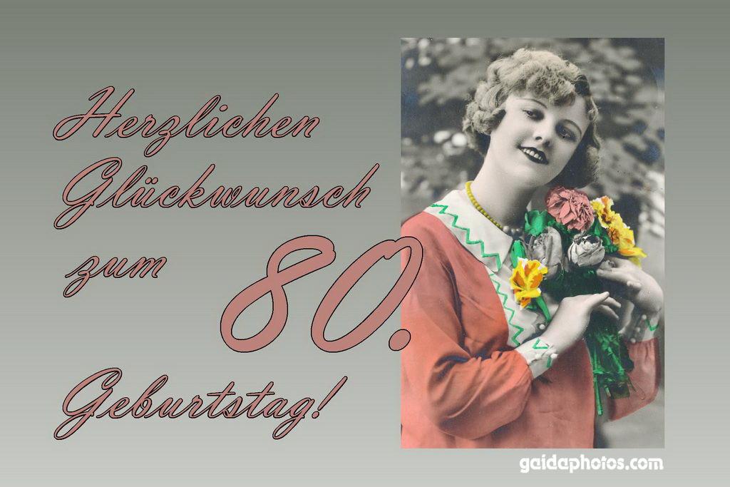 Geburtstagssprüche Für Frauen 80  80 Geburtstag Glückwünsche Einladungen Dankeskarten