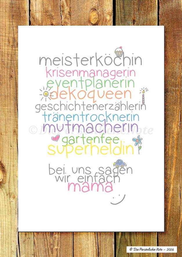Geburtstagssprüche Für Mama Von Tochter  Originaldruck Druck Print Für Mama nicht nur zum