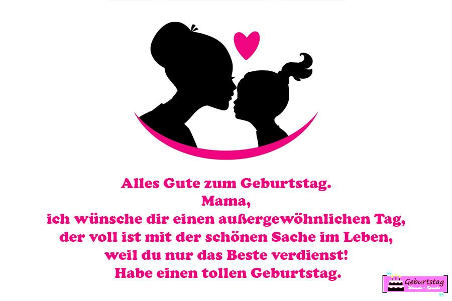 Geburtstagssprüche Für Mama Von Tochter  Geburtstagswünsche Für Mama Von Tochter Sohn schöne
