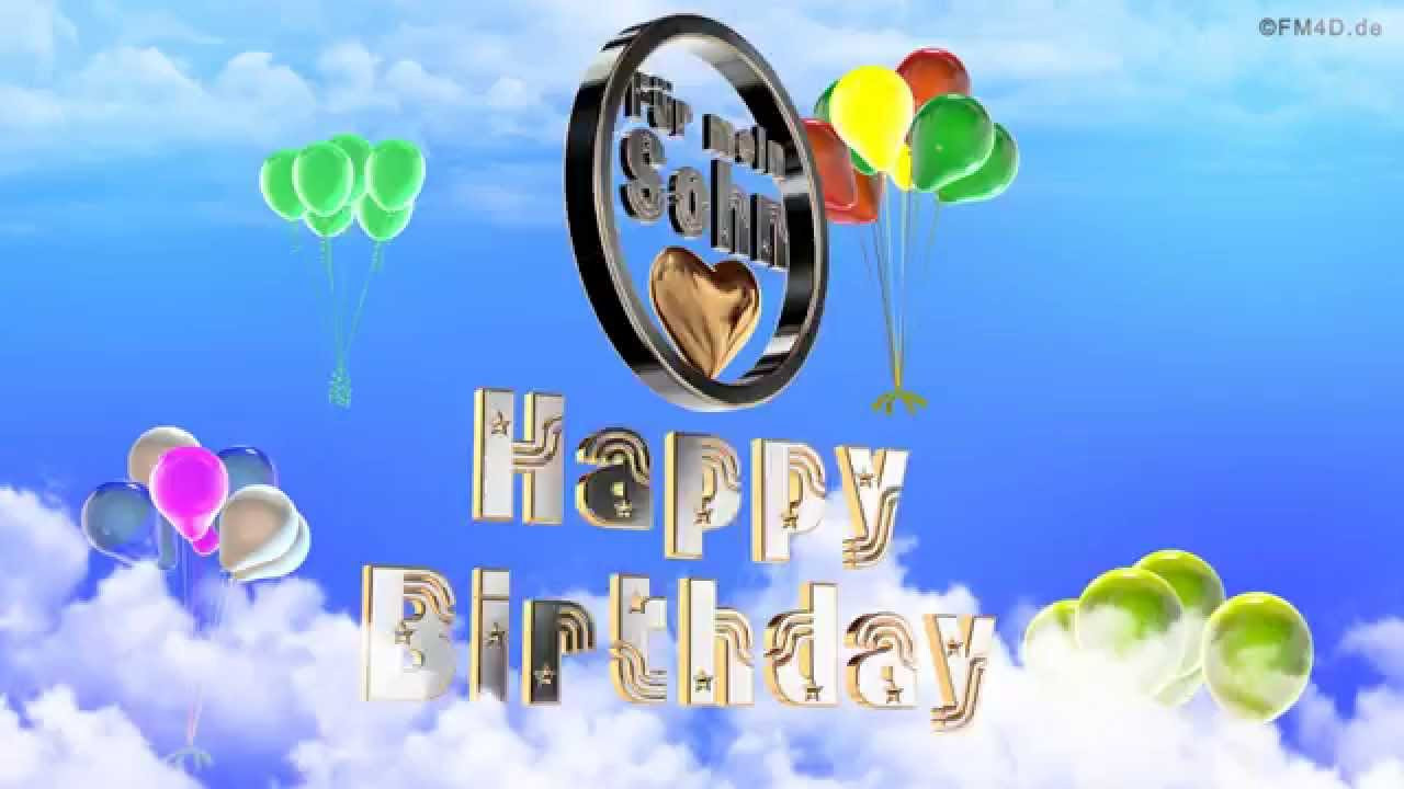 Geburtstagssprüche Für Sohn  Geburtstagslied ☆♪ für mein Sohn Happy Birthday to you