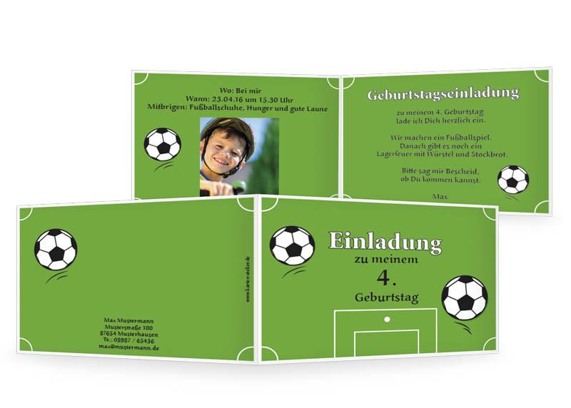Geburtstagssprüche Fußball  Einladungskarten 60 Geburtstag
