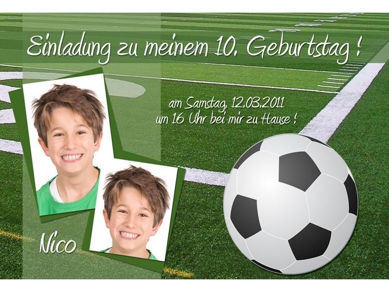Geburtstagssprüche Fußball  Einladung Geburtstag Fußball