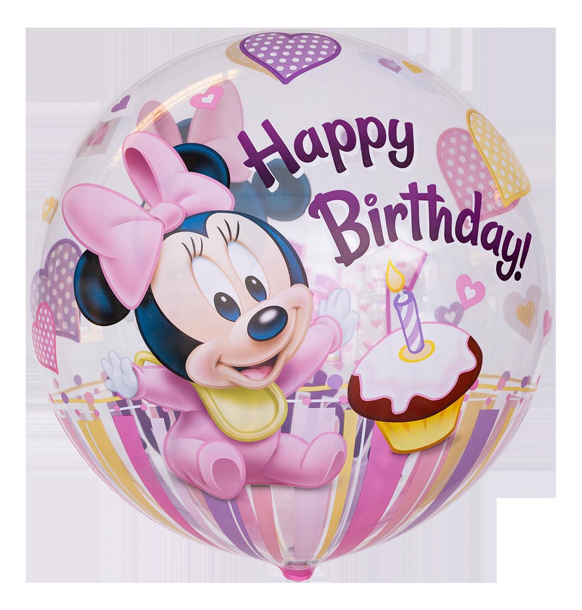 """Geburtstagssprüche Zum 1. Geburtstag  Bubble Ballon Motiv """"Minnie Maus"""""""