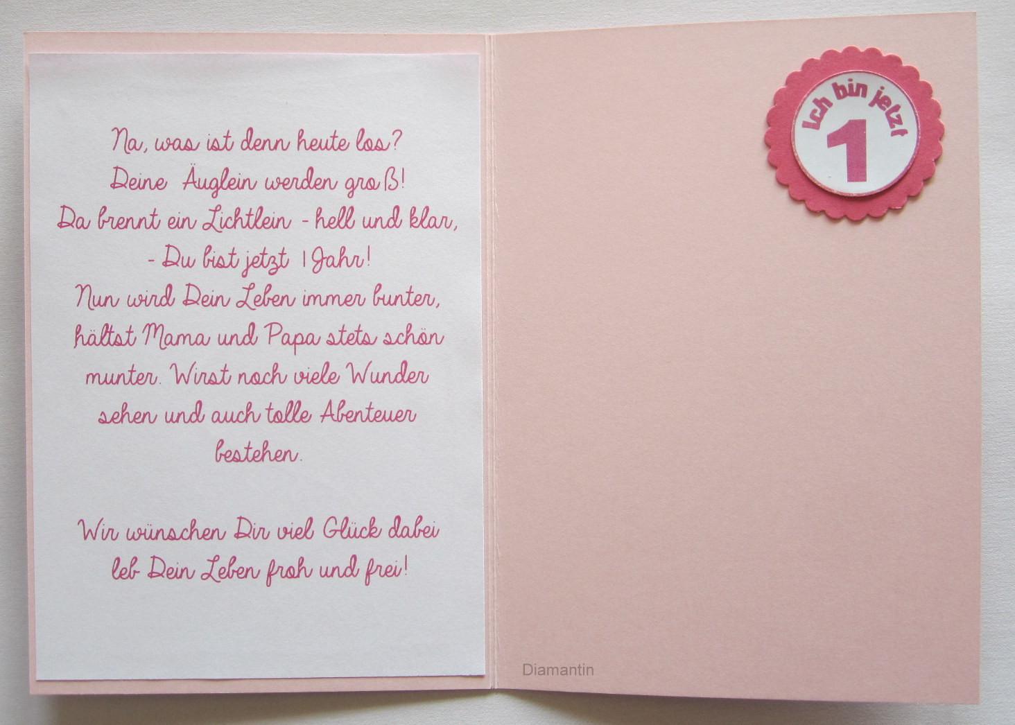 Geburtstagssprüche Zum 1. Geburtstag  Diamantin´s Hobbywelt Zum 1 Geburtstag für Zwillinge