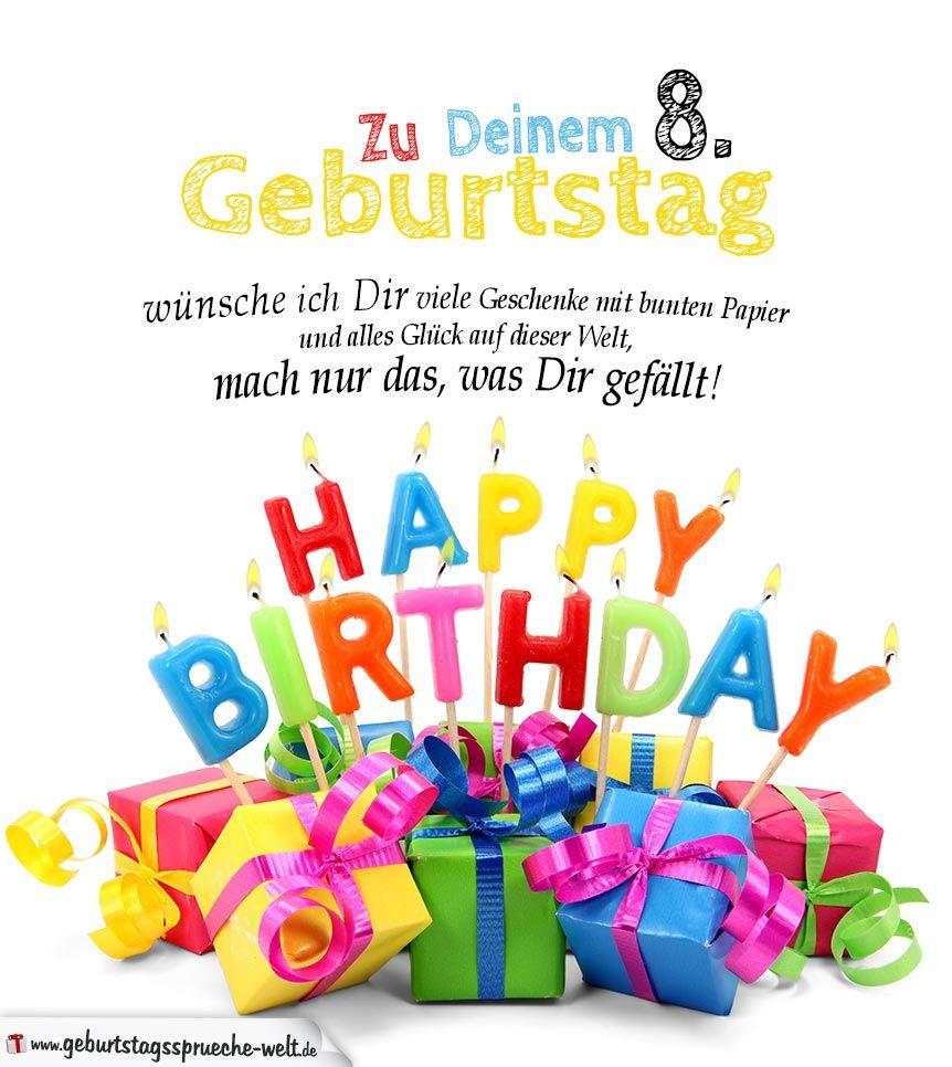 Geburtstagssprüche Zum 1. Geburtstag  Geburtstagskarten zum Ausdrucken 8 Geburtstag