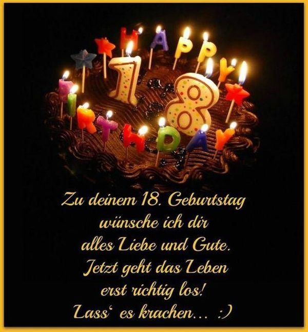 Geburtstagssprüche Zum 18 Geburtstag  Sprüche zum 18 Geburtstag Freche und Lustige Gratulieren
