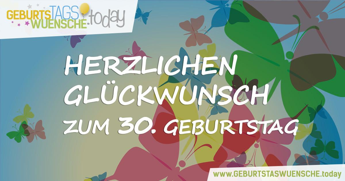 Geburtstagssprüche Zum 30 Frau  Lustige Sprüche und schöne Glückwünsche zum 30 Geburtstag