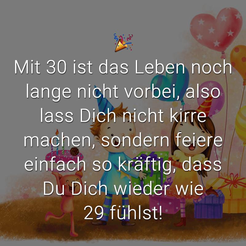 Geburtstagssprüche Zum 30 Frau  Glückwünsche zum 30 Geburtstag Beliebt lustig & kreativ