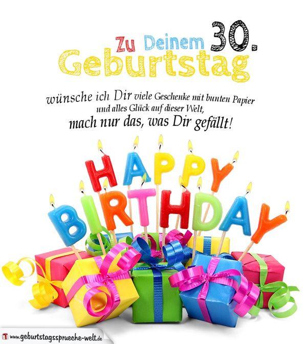 Geburtstagssprüche Zum 30 Frau  Glückwünsche zum 30 Geburtstag • Geburtstagssprüche 30