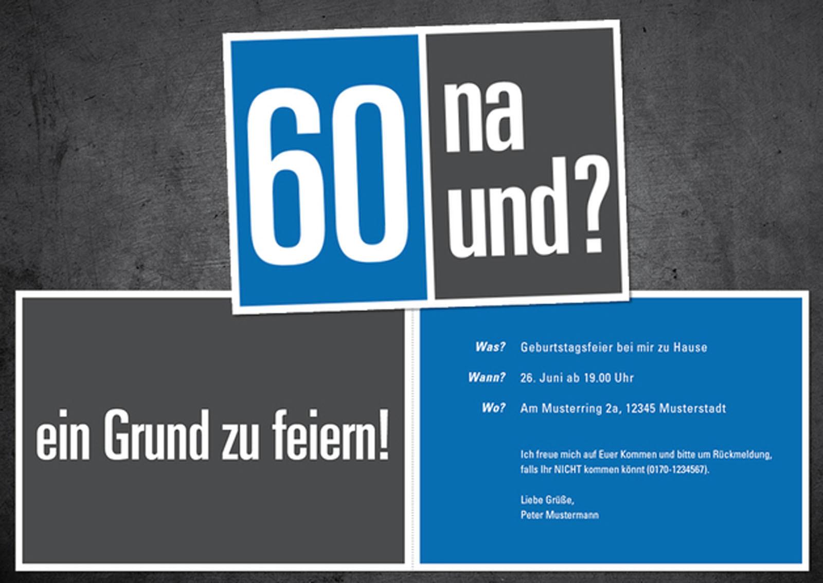 Geburtstagssprüche Zum 60. Geburtstag  Einladungen Zum 60 Geburtstag