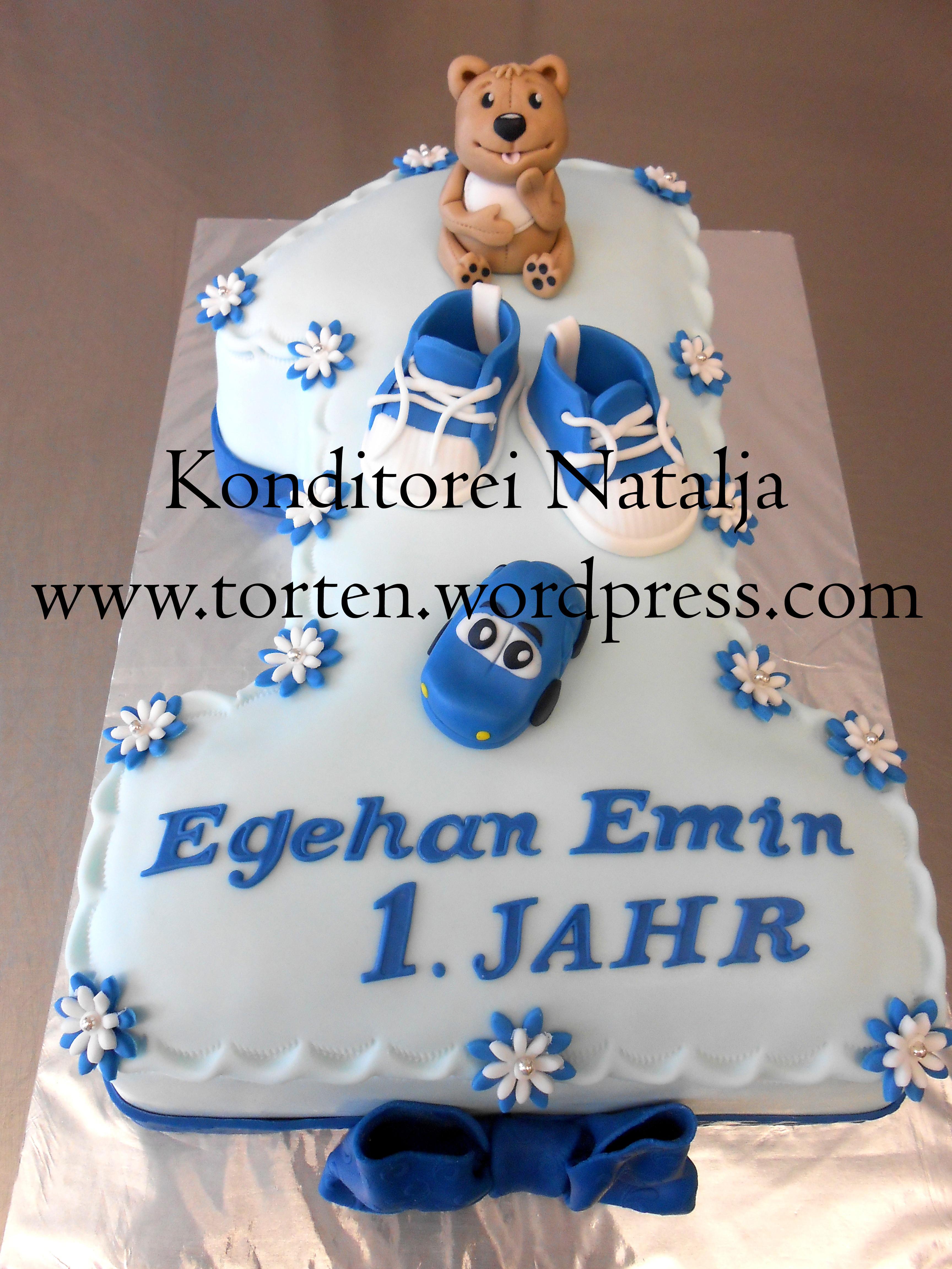 Geburtstagstorte 1 Jahr Junge  Jule backt 1 Geburtstag